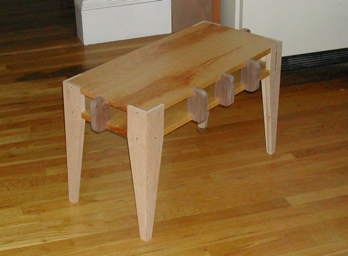 Assembled but unfinished piano bench