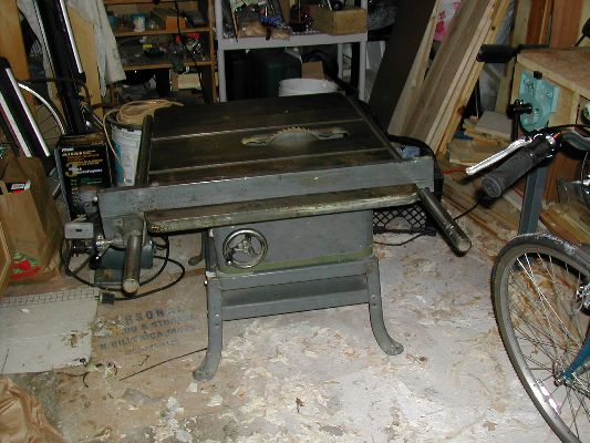 Table saw in my garage