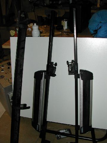 Roof rack in pieces